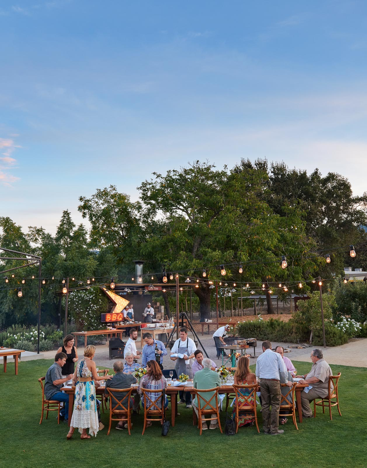 Outdoor Napa Dining